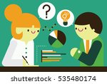 a psychologist evaluates a... | Shutterstock .eps vector #535480174