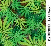 cannabis hemp marijuana... | Shutterstock .eps vector #535481239