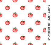 Seamless Tomatoes Pattern ...