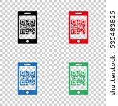 qr code    vector icon | Shutterstock .eps vector #535483825