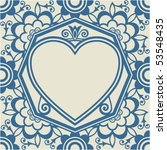 heart background design  vector ... | Shutterstock .eps vector #53548435