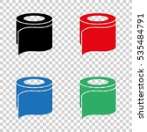 toilet  paper   vector icon | Shutterstock .eps vector #535484791