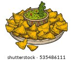 nachos. mexican traditional... | Shutterstock .eps vector #535486111