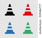 traffic cone    vector icon | Shutterstock .eps vector #535486777
