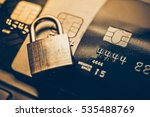 security lock on credit cards   ... | Shutterstock . vector #535488769