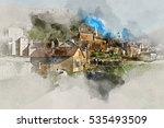 digital watercolor painting of...   Shutterstock . vector #535493509