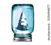 hand drawn christmas and new... | Shutterstock . vector #535494877