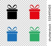 gift box    vector icon | Shutterstock .eps vector #535495405