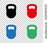 black kettlebell    vector icon | Shutterstock .eps vector #535495525