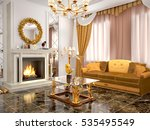 luxurious living room with... | Shutterstock . vector #535495549