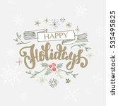 lettering christmas backgrounds   Shutterstock .eps vector #535495825
