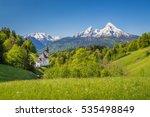 Idyllic Mountain Scenery In Th...