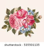 rosebush. pattern from pink... | Shutterstock . vector #535501135