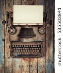 vintage typewriter covered with ... | Shutterstock . vector #535503841