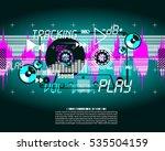 music vintage grange vector... | Shutterstock .eps vector #535504159