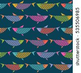 seamless pattern with fish.... | Shutterstock . vector #535506985