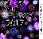 happy new year 2017wish   with  ...   Shutterstock . vector #535507795