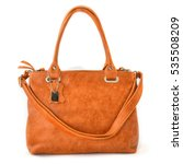 elegant brown leather woman's... | Shutterstock . vector #535508209