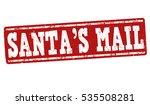 santa's mail grunge rubber...   Shutterstock .eps vector #535508281