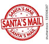 Santa's Mail Grunge Rubber...