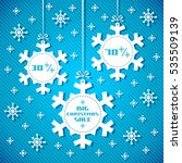 snowflake tags   christmas sale.... | Shutterstock . vector #535509139