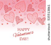 happy valentine s day lettering ... | Shutterstock .eps vector #535513861