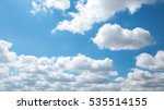 beautiful white cloud and blue...   Shutterstock . vector #535514155