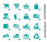 stylized simple online shop... | Shutterstock .eps vector #535519405