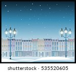 christmas town illustration... | Shutterstock .eps vector #535520605