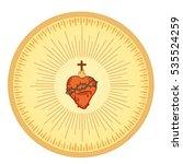 sacred heart of jesus. isolated ... | Shutterstock .eps vector #535524259