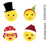 a set of cute yellow little... | Shutterstock .eps vector #535524571