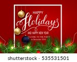 holidays greeting card for... | Shutterstock .eps vector #535531501