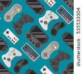 gamepad colorful seamless... | Shutterstock .eps vector #535533304