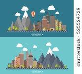 city in summer. urban landscape ... | Shutterstock .eps vector #535534729