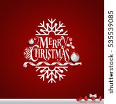 christmas greeting card with... | Shutterstock .eps vector #535539085