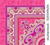 scarf print design | Shutterstock . vector #535549654