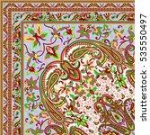 scarf print design | Shutterstock . vector #535550497