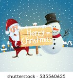 christmas greeting card with... | Shutterstock .eps vector #535560625