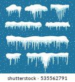 set of cartoon snow design... | Shutterstock .eps vector #535562791