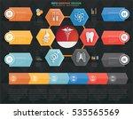 medical info graphic design on ... | Shutterstock .eps vector #535565569