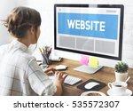 web design template copy space... | Shutterstock . vector #535572307