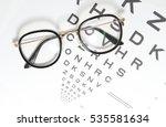 Vintage Eye Glasses On Eye...