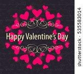 valentine invitation card....   Shutterstock .eps vector #535583014