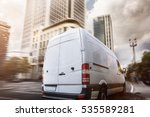 Stock photo delivery truck in a city 535589281