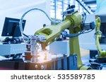 robotic machine vision system... | Shutterstock . vector #535589785