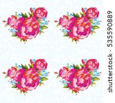seamless floral pattern with... | Shutterstock .eps vector #535590889