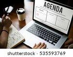 schedule agenda planner... | Shutterstock . vector #535593769