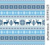 traditional ornamental winter... | Shutterstock .eps vector #535595125