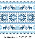 knitted winter sweater... | Shutterstock .eps vector #535595167