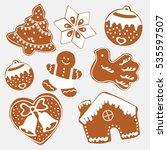vector. gingerbread cookies for ...   Shutterstock .eps vector #535597507